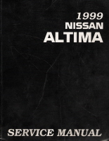 1999 Nissan Altima Factory Service Manual