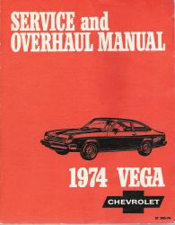 1974 Chevrolet Vega Factory Service Manual