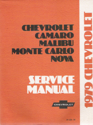 1979 Chevrolet Camaro, Malibu, Monte Carlo and Nova Factory Service Manual