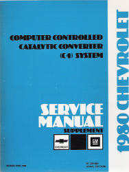 1980 Chevrolet Computer Controled Catalytic Converter (C4) System Service Manual Supplement