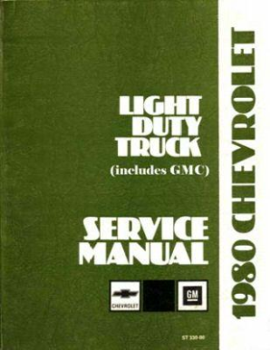 1980 Chevrolet Light Duty Truck 10-20-30 Series Service Manual