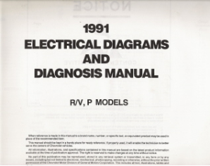 1991 Chevrolet GMC R/V, P Models Electrical Diagnosis & Wiring Diagrams (No Cover)