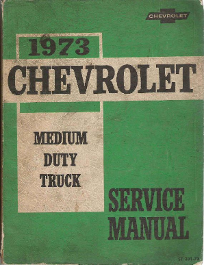 1973 Chevrolet Medium Truck Service Manual