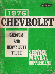 1976 Chevrolet Medium and Heavy Duty Truck Service Manual Supplement
