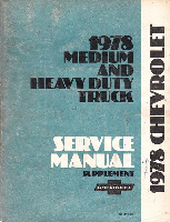 1978 Chevrolet Medium and Heavy Duty Truck Service Manual Supplement