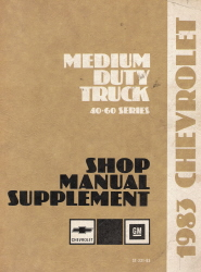 1983 Chevrolet Medium Duty Truck Shop Manual 40-60 Series