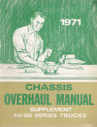 1971 Chevrolet Series 40-60 Truck Factory Chassis Overhaul Manual Supplement