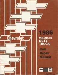 1986 GMC Medium Duty Trucks Unit Repair Manual