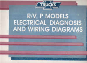 1990 Chevrolet GMC R/V & P Models Electrical Diagnosis & Wiring Diagrams
