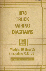 1978 GMC Models 10 thru 35 (Including C, D-80) - Wiring Diagrams