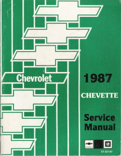 1987 Chevrolet Chevette Factory Service Manual