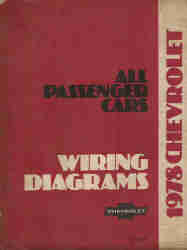 1978 Chevrolet All Passanger Cars Wiring Diagrams