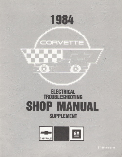 1984 Chevrolet Corvette Electrical Troubleshooting Supplement