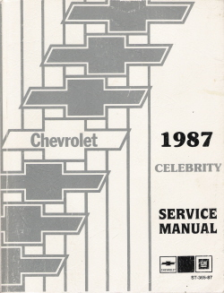 1987 Chevrolet Celebrity Factory Service Manual with Electrical Diagnosis Supplement