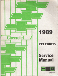 1989 Chevrolet Celebrity Factory Service Manual