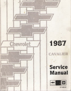 1987 Chevrolet Cavalier Factory Service Manual with Electrical Diagnosis Supplement
