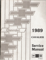 1989 Chevrolet Cavalier Factory Service Manual