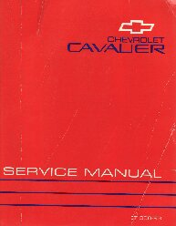 1993 Chevrolet Cavalier Factory Service Manual