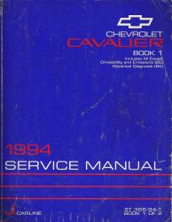 1994 Chevrolet Cavalier Factory Service Manual - 2 Volume Set