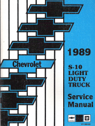 1989 Chevrolet S-10 Light Duty Truck Factory Service Manual