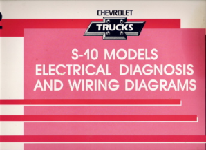 1992 Chevrolet GMC S-10 Models Electrical Diagnosis & Wiring Diagrams