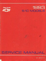 1993 Chevrolet S10 Truck Service Manual