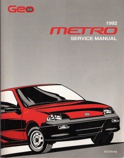 1992 Chevrolet / Geo Metro Factory Service Manual