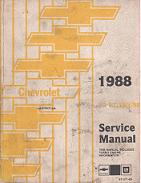 1988 Chevrolet Spectrum Factory Service Manual