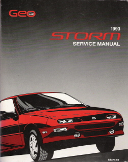 1993 Geo Storm Factory Service Manual
