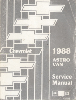 1988 Chevrolet Astro Van Factory Service Manual