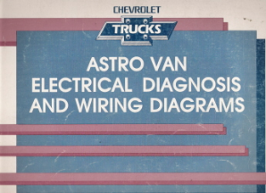 1990 Chevrolet Astro Van Electrical Diagnosis & Wiring Diagrams