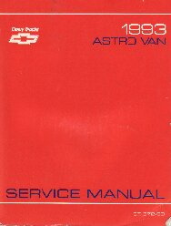 1993 Chevrolet Astro Van Service Manual