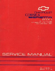 1993 Chevrolet Corsica & Beretta Factory Service Manual - 2 Volume Set