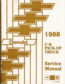 1988 C-K Pick-Up Truck Service Manual with Supplement & Electrical Diagnosis Manual