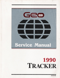 1990 Geo Tracker Factory Service Manual with Electrical Diagnosis Supplement Manual