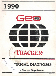 1990 Geo Tracker Factory Electrical Diagnosis Service Manual Supplement