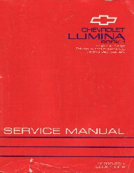1993 Chevrolet Lumina Factory Service Manual - 2 Volume Set