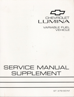 1993 Chevrolet Lumina Variable Fuel Factory Service Manual Supplement