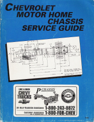 1995 Chevrolet Motor Home Chassis Service Guide