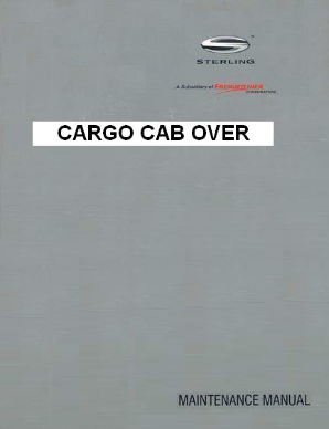 Sterling Cargo Cab-Over Factory Maintenance Manual
