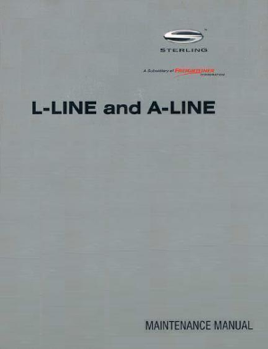 Sterling A-Liner Factory Maintenance Manual