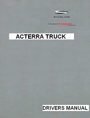 Sterling Acterra Factory Drivers Manual
