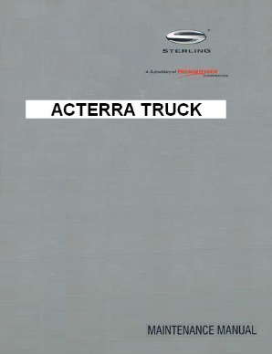 Sterling Acterra Factory Maintenance Manual