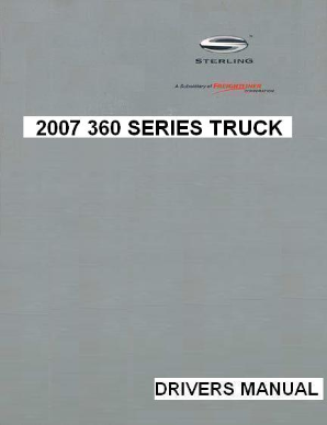 2007 Sterling 360 Factory Drivers Manual