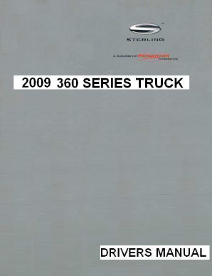 2009 Sterling 360 Factory Drivers Manual