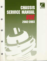 2002-2003 Saturn Vue Factory Service Manual, 4 Volume Set