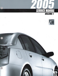2005 Saturn Ion Factory Service Manual - 3 Volume Set