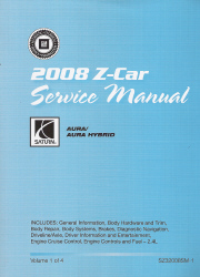 2008 Saturn Aura & Aura Hybrid Factory Service Manual