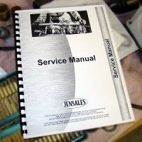 Massey Ferguson 50, 50A Tractor Service Manual