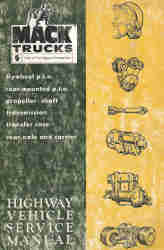 MACK Truck Highway Vehicle Geared Components Service Manual